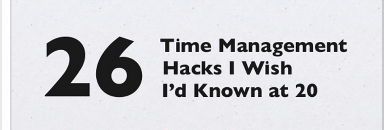 20+ Great Time Management Tips for Entrepreneurs