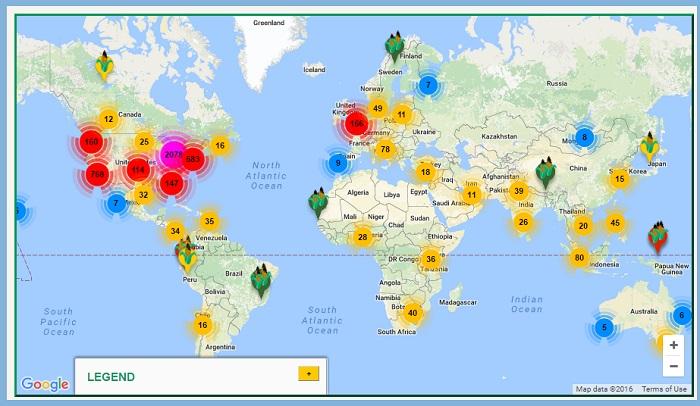 Urban Farming Global Food Chain® map!