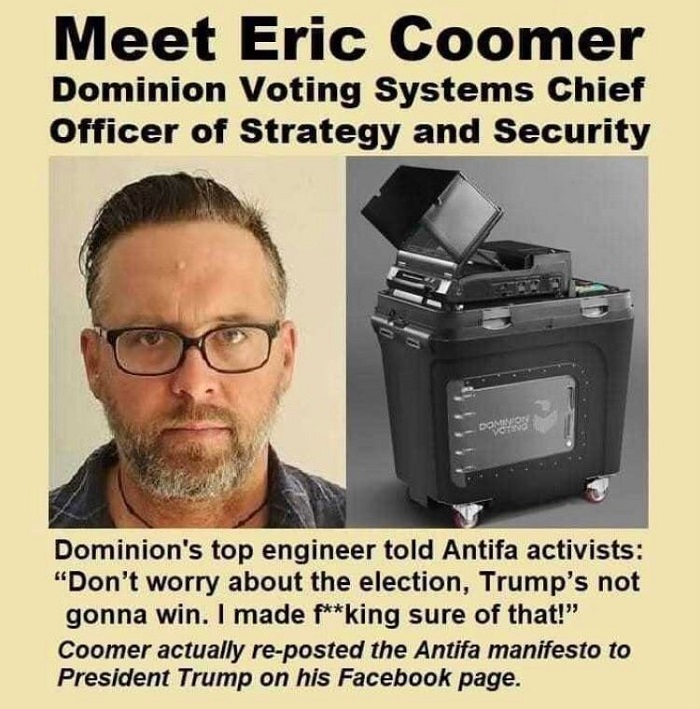 Dominion VP Had TDS, Ties To Antifa, Bragged About Fixing The Election